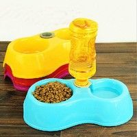 Wish | Cats Pets Pet Suppliespets Cats pet suppliesPets Puppy Dogs Cats Automatic Water Drinking Feeding Basin Food Bowls