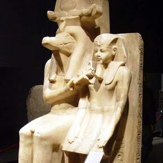 Sobek and Amenhotep III statues,Luxor,Egypt.