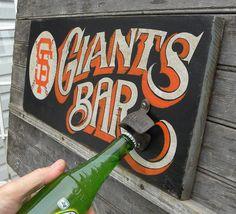 SF Giants BAR style Sign original hand made by ZekesAntiqueSigns, $75.00