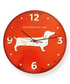 Another great find on #zulily! Dachshund Round Clock #zulilyfinds