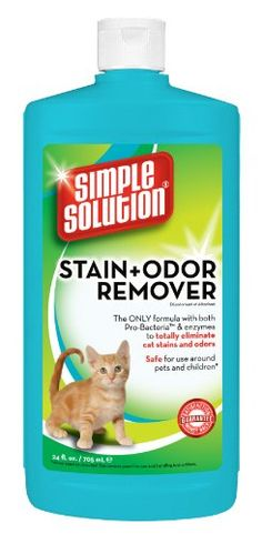 Simple Solutions Cat Stain and Odor Remover 24Ounce -- Read more reviews of the product by visiting the link on the image.