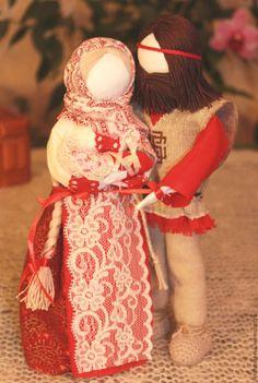 """Купить Авторские куклы-обереги """"Семья"""" - ярко-красный, народные куклы, славянские куклы"""