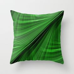 GORGEOUS GREEN Electric Highway Throw Pillow by Rokin Art by RokinRonda - $20.00