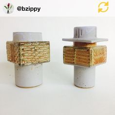RG @bzippy: New Brutalist vases for The Clay Pool Show opening this Saturday night!!! @theplatformexperiment #bzippy #brutalist #ceramicvases #theplatformexperiment