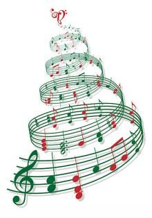 Christmas tree with music notes and heart Banner by Illustree - CafePress Xmas Music, Christmas Music, Christmas Carol, Christmas And New Year, Christmas Holidays, Christmas Crafts, Christmas Decorations, Christmas Tree, White Christmas