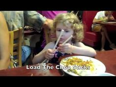 I am a proud Grandpa but this is funny (2 min. 8 sec.)  Kylie, almost three, loves Chinese Noodles  The Chinese Students at the next table couldn't eat they were laughing so hard.  It is funny all the way through, but, be sure to watch to the end where she bites her tongue. Watch her lips after she bites her tongue!  Here she is at Chou's Kitchen in Mesa, (Alma School & Ray) Arizona Watch as she devours a plate of Chicken and noodles.