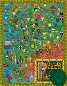J.E. Fullerton's Massively Detailed Game Of Thrones Map Of The Reach, in the southwest of Westeros, ancestral domain of House Tyrell