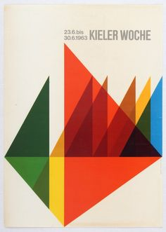 """""""Lot of the Day"""" - Kieler Woche 1963 Kiel Week annual sailing event advertising poster - TODAY: Original Vintage Poster Collector Auction 23 July. This auction features posters from around the world with low starting prices, most from only £5. Visit http://www.antikbar.co.uk/news_and_events/detail/?nId=166 to view our catalogue and register to bid. AntikBar.co.uk"""