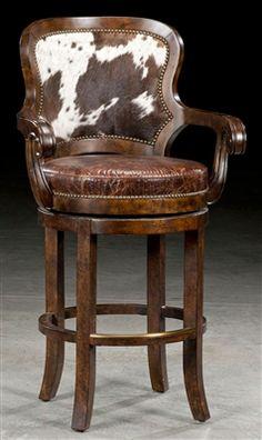 Custom bar or counter stool. Bar furniture and furnishings.