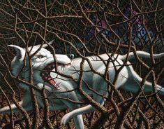 """Leonard Koscianski. Stalked. Oil on panel. 14""""x16"""""""