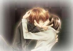 Yaoi! Lelouch and Suzaku, Code Geass, kiss, drawing