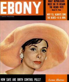 Vintage Ebony Magazine w/ Lena Horne on the Cover