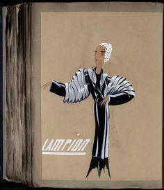 Robe Lampion, Paris 1933, copyright Patrimoine Lanvin #JeanneLanvin #Lanvin