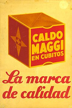 Cartel Maggi años 30 – Anuncios vintage Nestlé