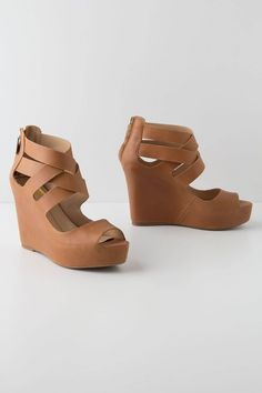 Strapped Angles Wedges - Anthropologie.com