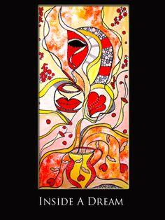 - Title: Inside a Dream - Medium: Mixed media - Support: canvas, black...