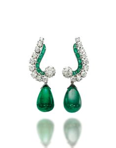 Pearl And Diamond Earrings, Diamond Earing, Emerald Earrings, Big Earrings, Diamond Jewelry, Emerald Jewelry, Leather Earrings, Cartilage Earrings, Emerald Diamond