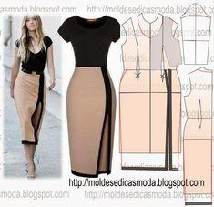 23 super ideas for sewing skirts maxi diy Fashion Sewing, Diy Fashion, Ideias Fashion, Dress Sewing Patterns, Clothing Patterns, Skirt Sewing, Sewing Clothes, Diy Clothes, Costura Fashion