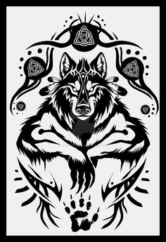Tattoo Trends – Shamanic Werewolf Tattoo Design by Anioue.deviantart… on Tribal Tattoos, Tribal Wolf Tattoo, Wolf Tattoo Design, Celtic Tattoos, Viking Tattoos, Body Art Tattoos, Tattoo Drawings, Tattoo Designs, Celtic Warrior Tattoos