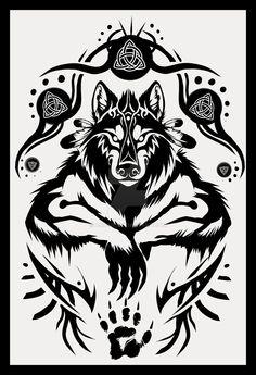 Shamanic Werewolf Tattoo Design by Anioue.deviantart.com on @DeviantArt