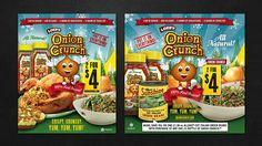 Magazine Ad Design for Client Onion Crunch