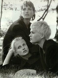 Vogue Italia September 1996 Tender Look Photo Steven Meisel Editor Brana Wolf Models Elsa Benitez, Esther De Jong & Kylie Bax