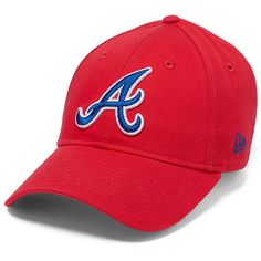 PINK Atlanta Braves Baseball Hat (585 MXN) ❤ liked on Polyvore featuring accessories, hats, red, cotton hat, atlanta braves baseball cap, baseball hats, pink baseball cap and red baseball cap