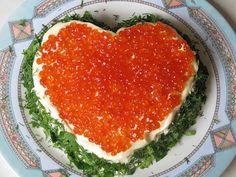 Салат Мое сердце. Вкусные слоеные салаты. Блюда для романтического ужина - YouTube