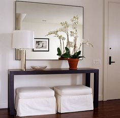 Modern foyer table modern entry table foyer large furniture tables ways hallway on entryway decorating ideas . Entrance Table, Entry Tables, Entrance Foyer, Entryway Decor, Entryway Ideas, Hallway Ideas, Hallway Tables, Entry Hallway, White Hallway