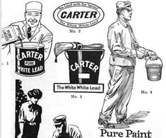 These images were for local advertisers to use to sell Carter White Lead paint.