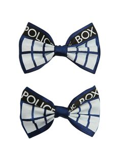 Doctor Who TARDIS Hair Bow 2 Pack | Hot Topic