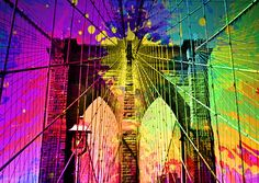 New York Bridge in colourful version like never seen before.  Put together in photoshop Size; 640 x 455 Source; both google images