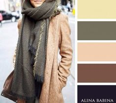 Khaki, beige and dusty yelliw: colour combinations