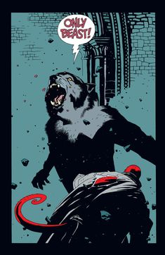"""comicparanoia: """" Hellboy vs William Grenier - werewolf on Hellboy: The Wolves of Saint August released by Dark Horse Comics on January by Mike Mignola """" Comic Book Artists, Comic Book Characters, Comic Artist, Comic Books Art, Dark Horse Comics, Of Wolf And Man, Mike Mignola Art, Science Fiction Kunst, Werewolf Art"""