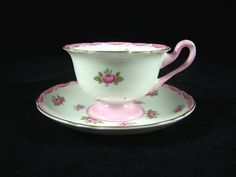 Shelley England Tea Cup Pink Roses 13520 #Shelley