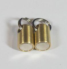 Two Piece Break Apart Key Chain Neodymium Brass Magnet Set Diy Keychain, Keychain Ideas, Edc Gadgets, Key Hooks, Homemade Tools, Neodymium Magnets, Cool Inventions, Split Ring, Key Chain
