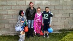 My grandkids with the costumes I made.