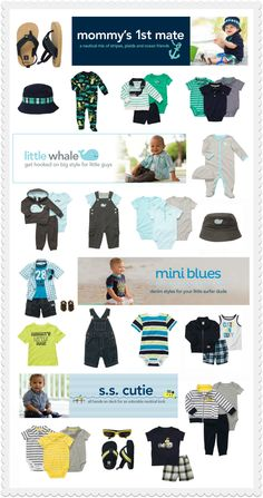 Sample Baby Registry I'm a little obsessed with the nautical look .Carters Baby Registry with BabyListI'm a little obsessed with the nautical look .Carters Baby Registry with BabyList Little Boy Fashion, Kids Fashion, Baby Boy Outfits, Kids Outfits, Nautical Looks, Nautical Baby, Baby Bash, Baby Fashionista, Baby Mine