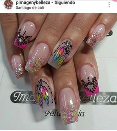 Cute Nail Art, Cute Nails, Acrylic Nail Designs, Acrylic Nails, Nail Manicure, Nail Polish, You Nailed It, Make Up, Beauty