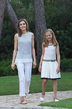 Letizia with her elder daughter Princess Leonor.
