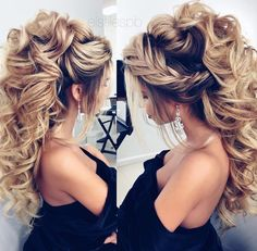 Bridal hair and makeup cost Elstyle wedding makeup Quince Hairstyles, Bride Hairstyles, Cool Hairstyles, Hairstyle Ideas, Hair Ideas, Bridal Hair And Makeup, Hair Makeup, Wedding Makeup, Big Wedding Hair