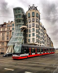 Dancing buildings in Prague by @sennarelax  Discover the most hidden places on our travel map!