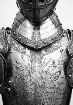 Engraved medieval armour
