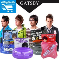 【Gatsby】Moving Rubber ● Styling Wax ● Hair Jam ● Hair Clay ● Styling Grease