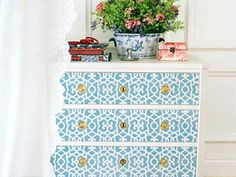 I found a similar stencil to this at hobby lobby for only 16 bucks! just need to purchase...