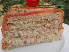 Un delicioso pastel de salmón y langostinos , fácil y para degustar en cualquier celebración.   Con Thermomix .