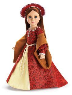 Tudor Dress and French Hood ~ for 18 Inch Slim Dolls Like Carpatina, Magic Attic & Stardust Classics Fantasy Adventures by Carpatina Dolls http://www.amazon.com/dp/B005JE2II4/ref=cm_sw_r_pi_dp_-3fNtb0PC126PNSX