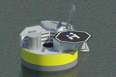 Profesores del MIT diseñan planta nuclear que flota en el mar