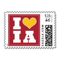 Iowa State Cyclones Inspired Postage Stamps - #Big12 #BCS #Football