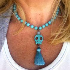 #collar turquesas #azules para viernes. Feliz Viernes